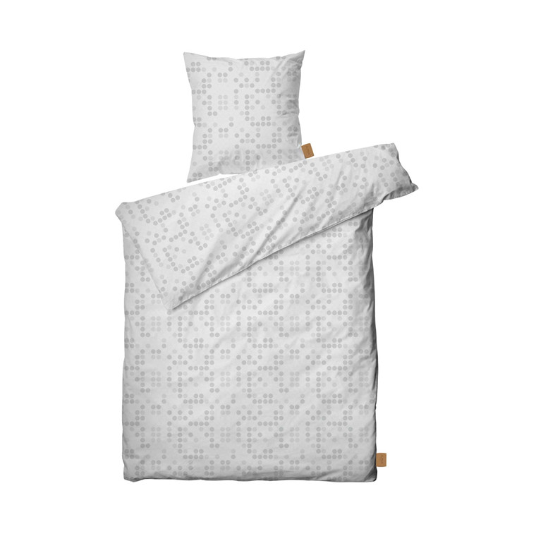 Juna Polka sengelinned 140 x 220 cm hvid