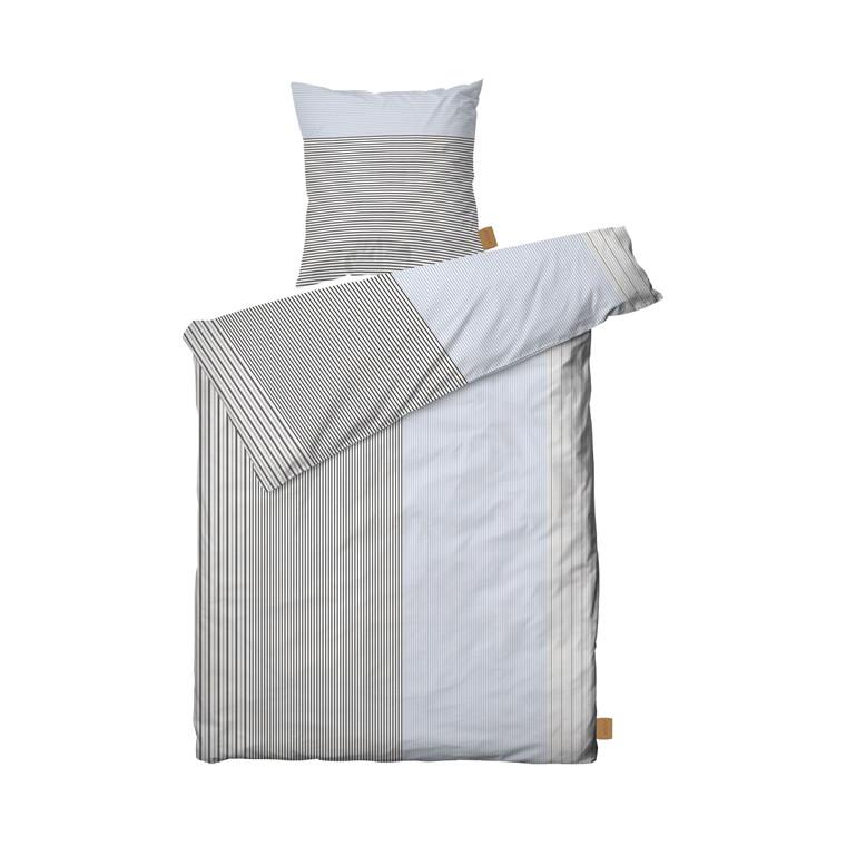 JUNA Shirt sengelinned 140x200 cm blå