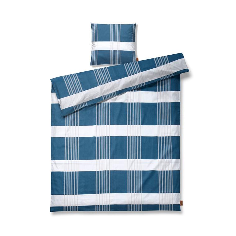 JUNA Road Sengetøj blå 140x200 cm