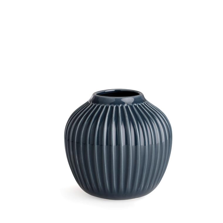 KÄHLER Hammershøi Vase H12,5 antracit