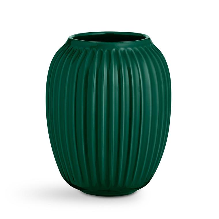 KÄHLER Hammershøi Vase H20 grøn