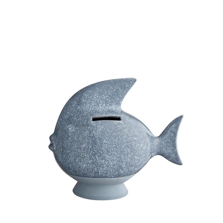 KÄHLER Fishy Sparedyr H14,5 lys blå