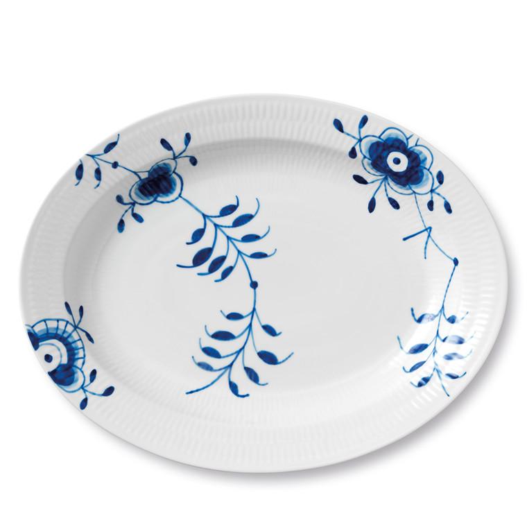 ROYAL COPENHAGEN Blå Mega serveringsfad 36,5 cm