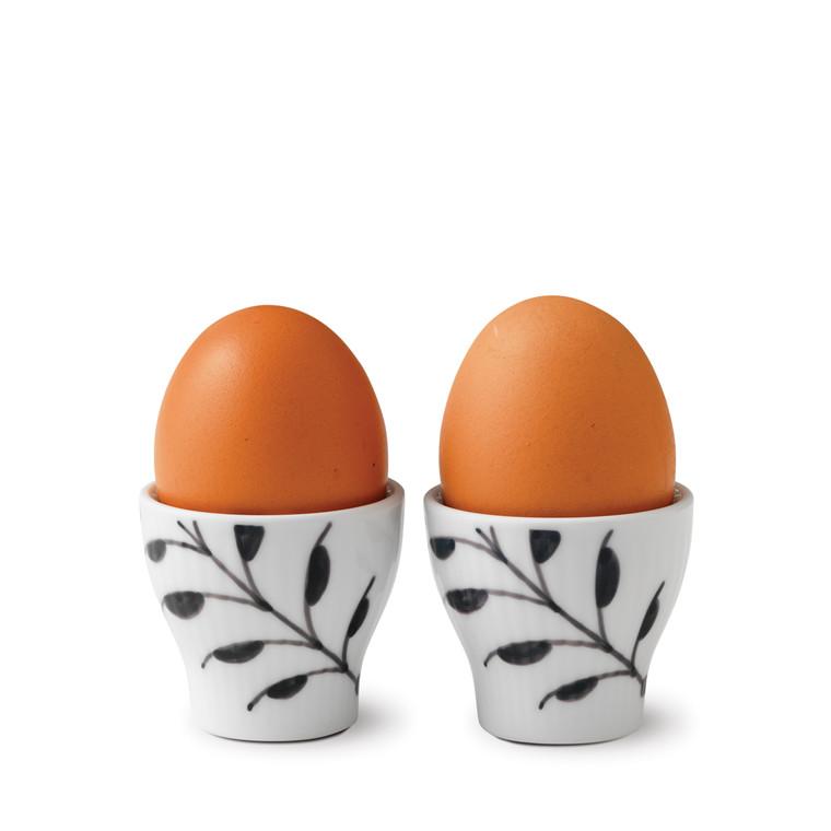 ROYAL COPENHAGEN Sort Mega æggebæger 2 stk.
