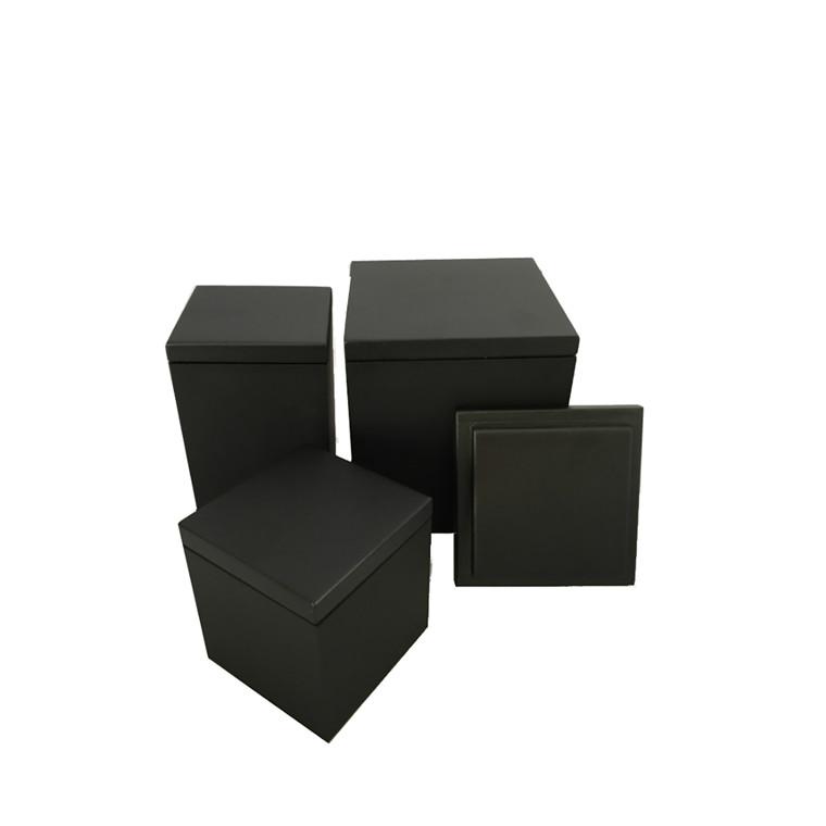 SEJ DESIGN Trælåg Large 12x12 sortlakeret
