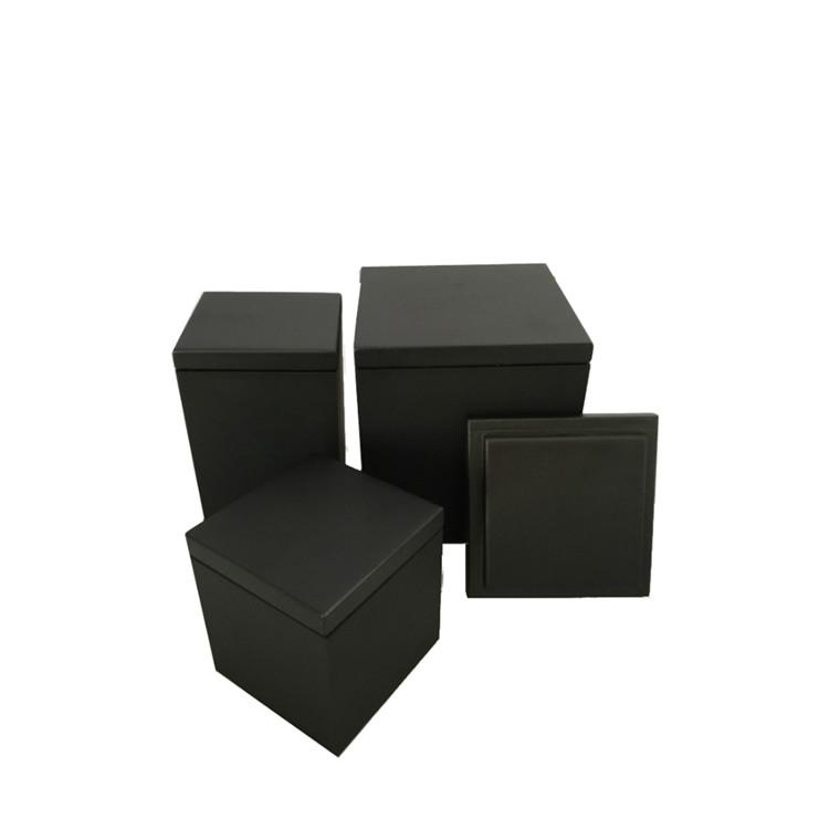 SEJ DESIGN Låg til vaser sort 11x11