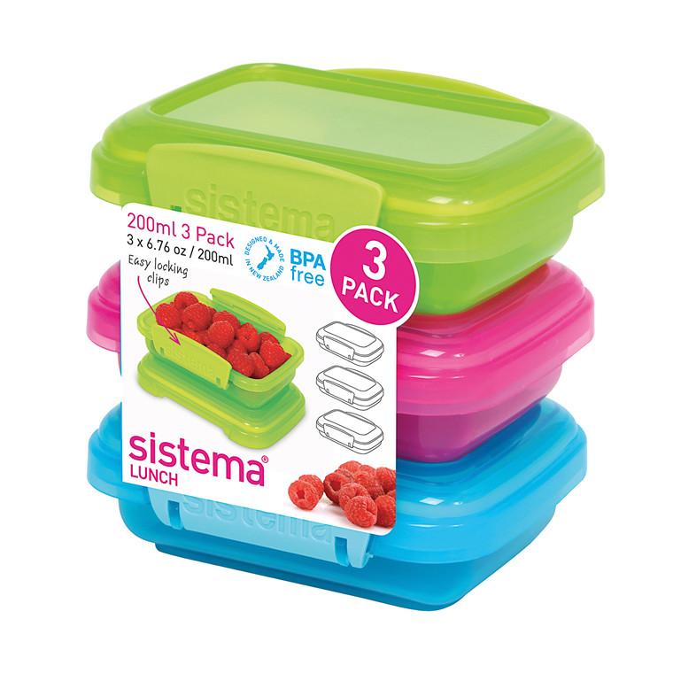 Sistema 3-pak lunch boks 200 ml