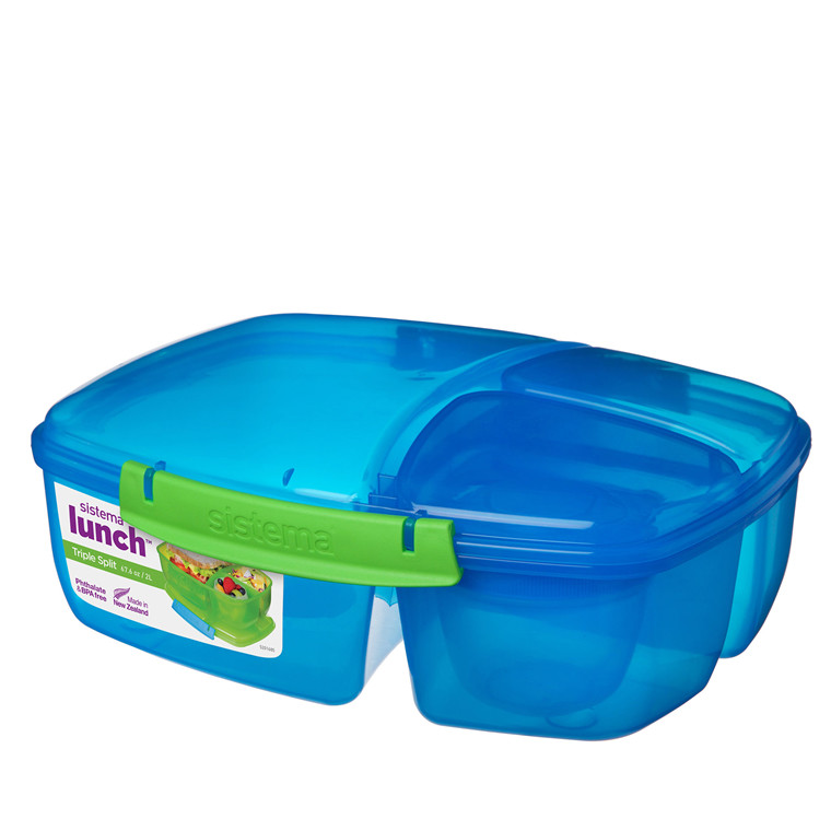 SISTEMA 2L Triple Split Lunch Box