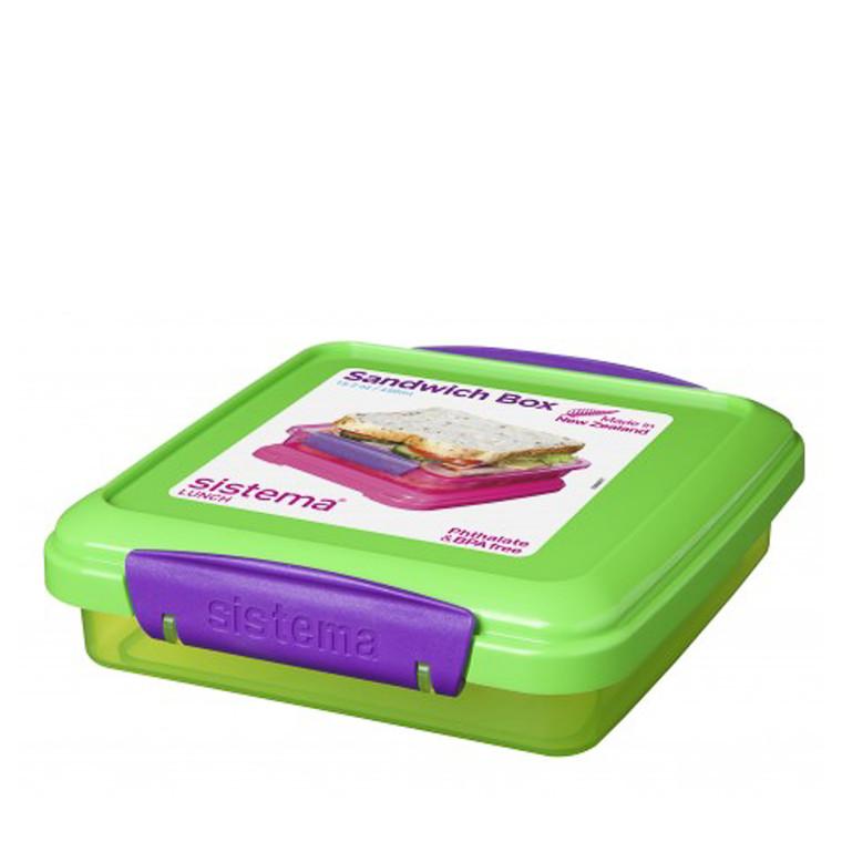 Sistema Sandwich boks 450 ml farvet