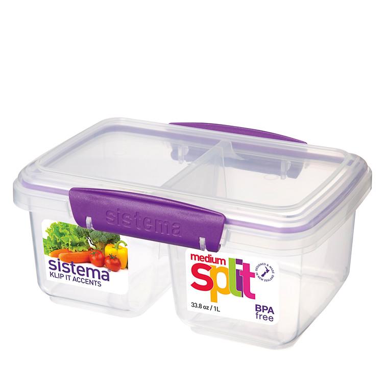 Sistema rektangulær split boks 1 l