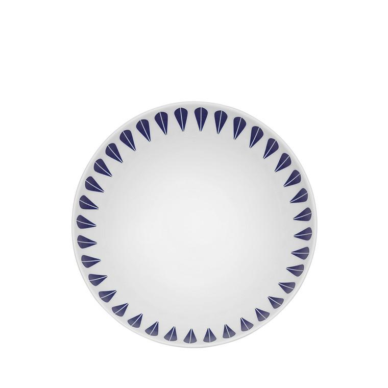 Lucie Kaas Lotus dyb tallerken 18 cm mørkeblå