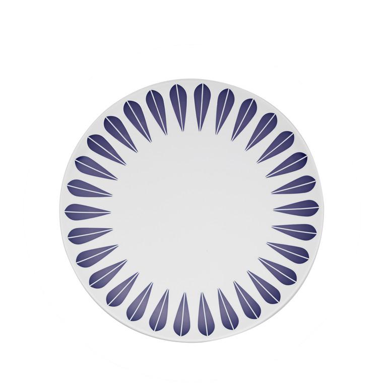 Lucie Kaas Lotus tallerken 21 cm mørkeblå
