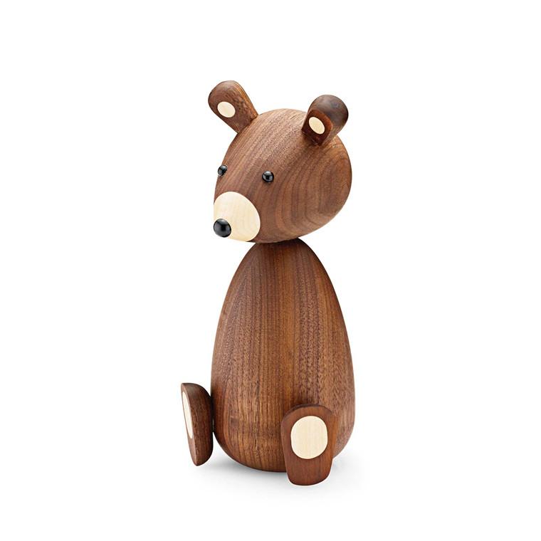 LUCIE KAAS Mor bjørn amerikansk valnød 18,7 cm