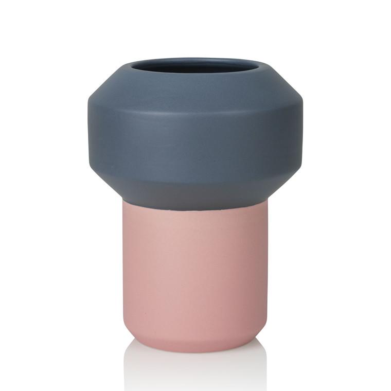 LUCIE KAAS Fumario vase pink/mørk grå