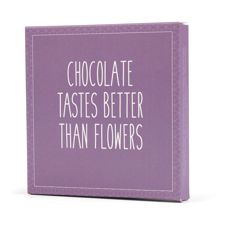 Konnerup Chokoladekort 'Chocolate tastes better than flowers'