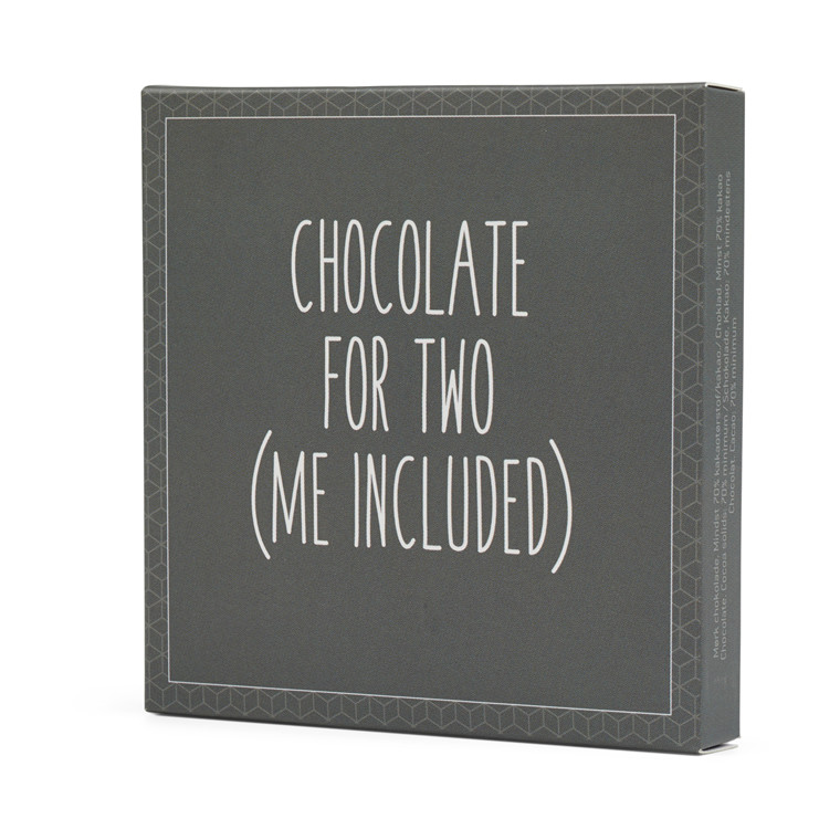 Konnerup Chokoladekort 'Chocolate for two (me included)'