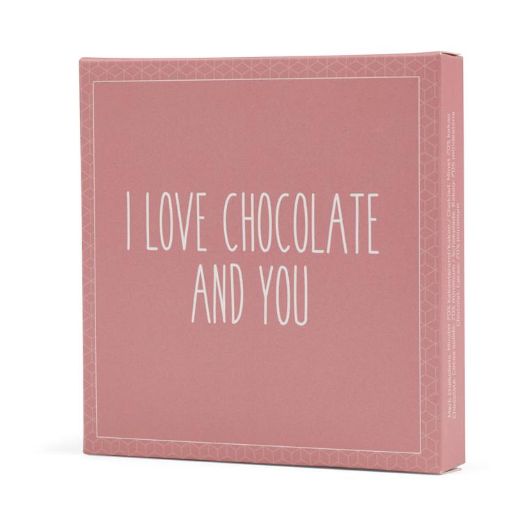 Konnerup Chokoladekort 'I love chocolate and you'