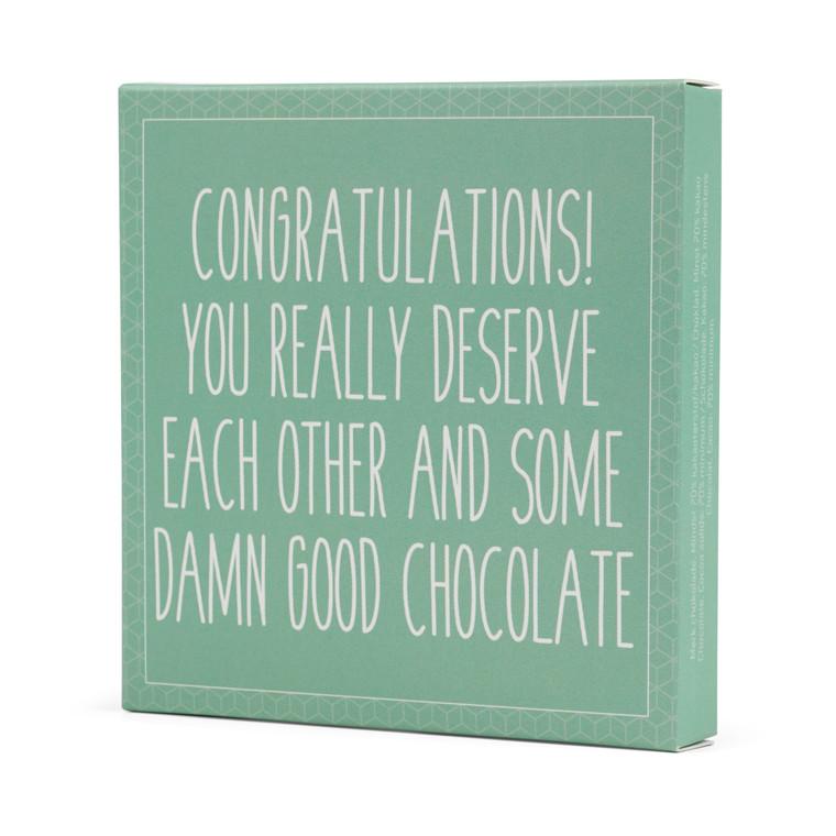 Konnerup Chokoladekort 'Congratulations! You really deserve each other'