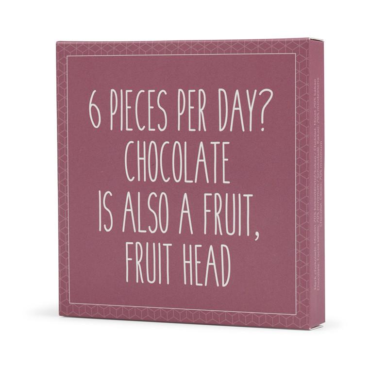 Konnerup Chokoladekort '6 pieces per day?'
