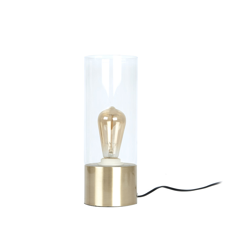 LEITMOTIV Bordlampe Lax glas & messing