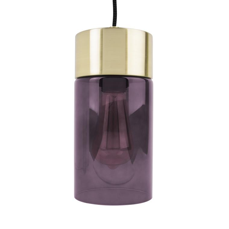 LEITMOTIV Pendel Lax lilla glas & messing