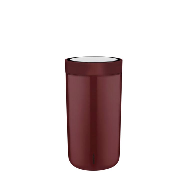 Stelton To Go Click 0,34 l stål burgundy