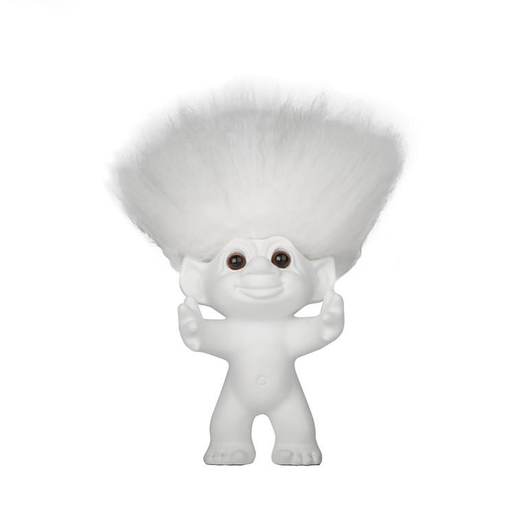 BY SOMMER Lykketrold hvid/hvidt hår 12 cm