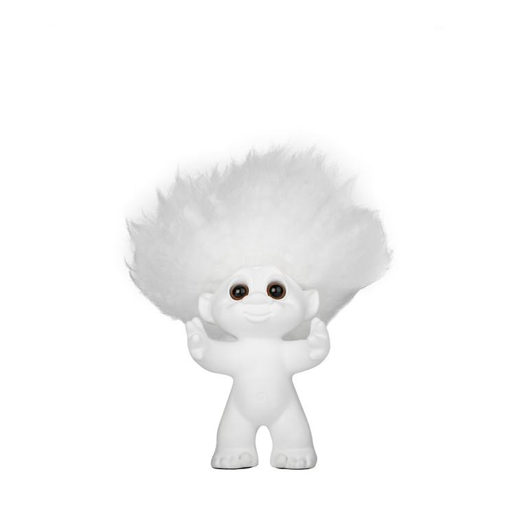 BY SOMMER Lykketrold hvid/hvidt hår 9 cm