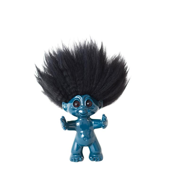 By Sommer Lykketrold petrol/sort hår 9 cm