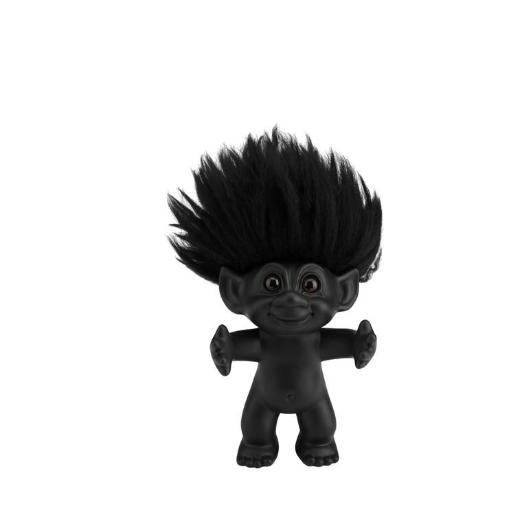 LYKKETROLD Mat sort/sort hår 9 cm