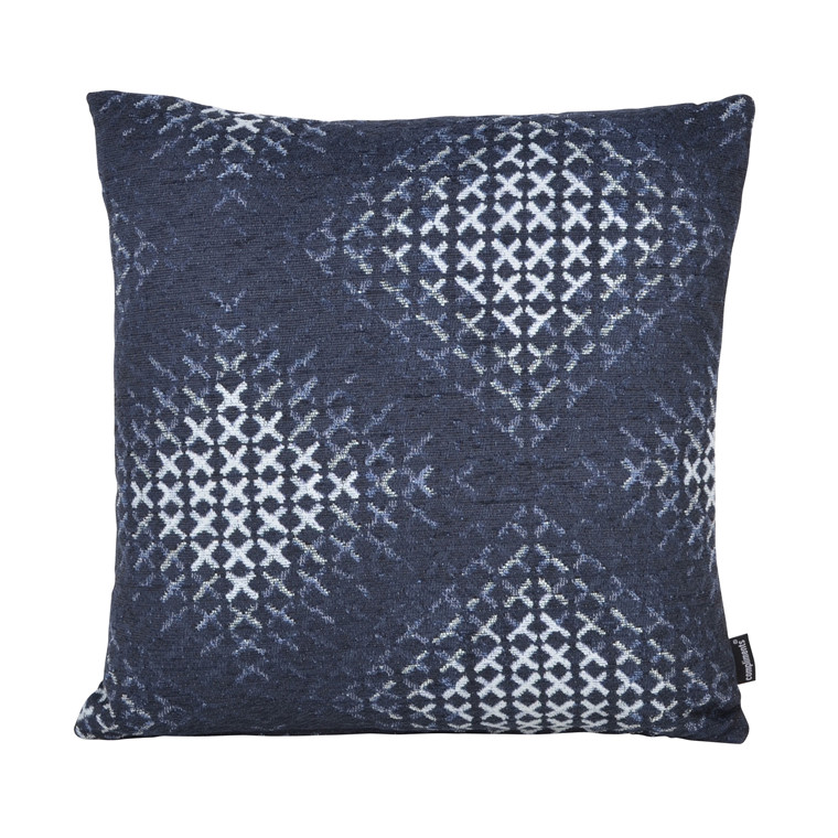 COMPLIMENTS Cross pude 45 X 45 cm blå