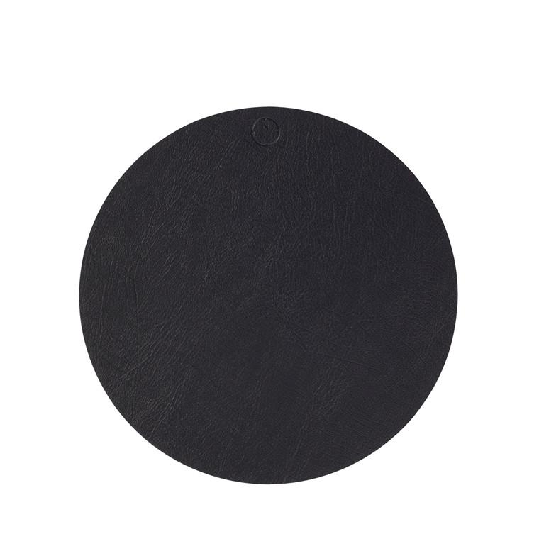 NOORT Cirkel dækkeserviet sort Ø33