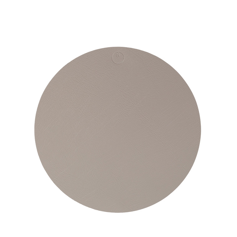 NOORT Cirkel dækkeserviet lys grå Ø33