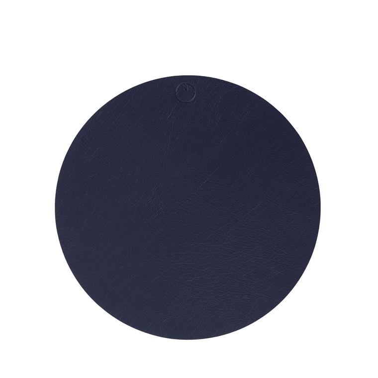 NOORT Cirkel dækkeserviet indigo blå Ø33