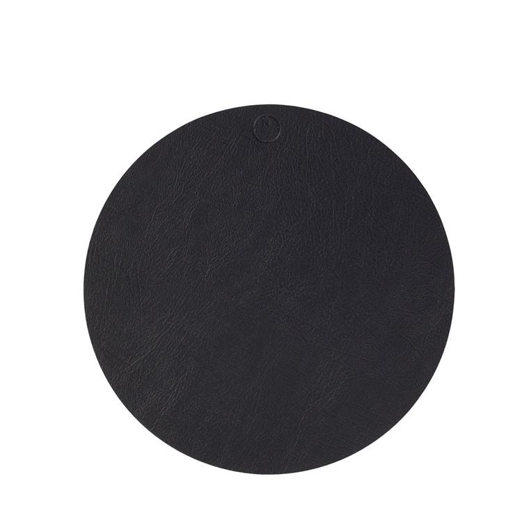 NOORT Cirkel dækkeserviet sort Ø40