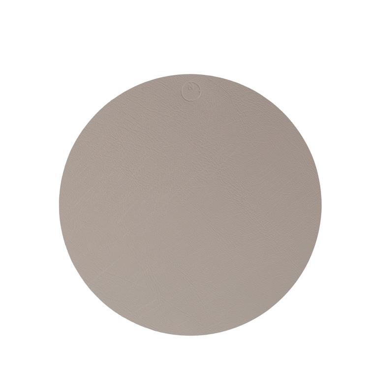NOORT Cirkel dækkeserviet lys grå Ø40