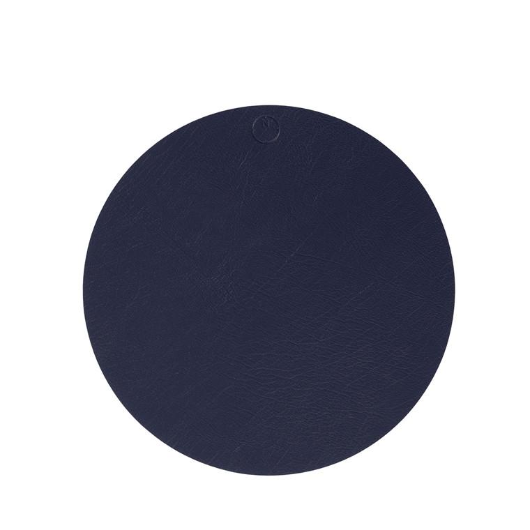 NOORT Cirkel dækkeserviet indigo blå Ø40