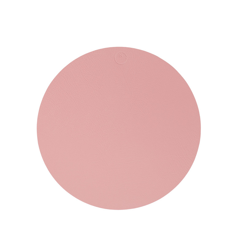 NOORT Cirkel dækkeserviet lys rød Ø40