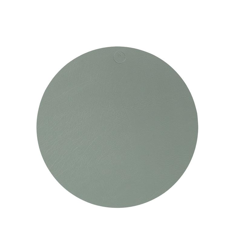 NOORT Cirkel dækkeserviet dusty grøn Ø40