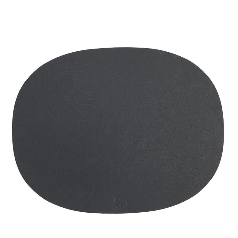 NOORT Oval dækkeserviet antracit 42x33
