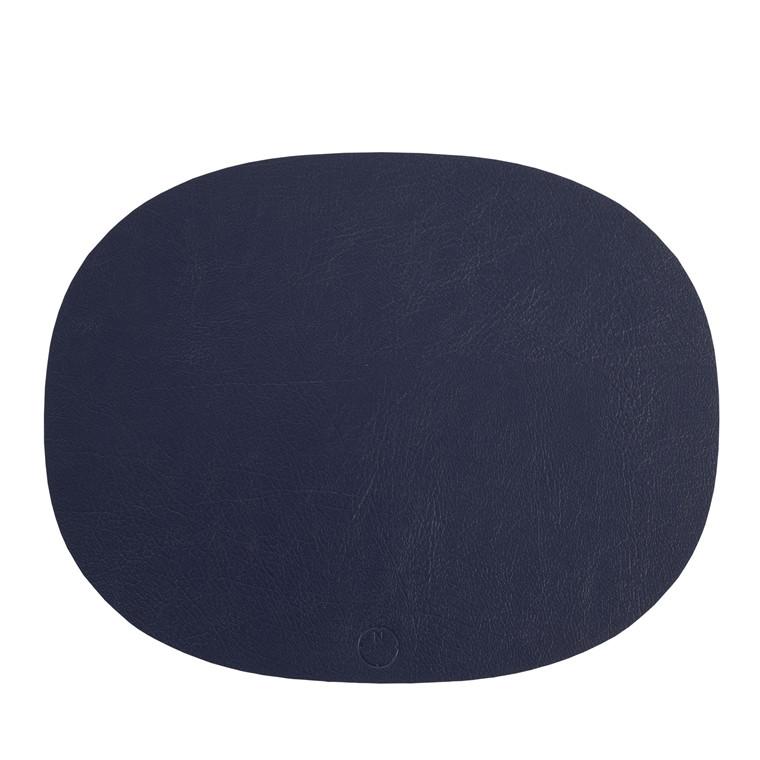 NOORT Oval dækkeserviet indigo blå 42x33