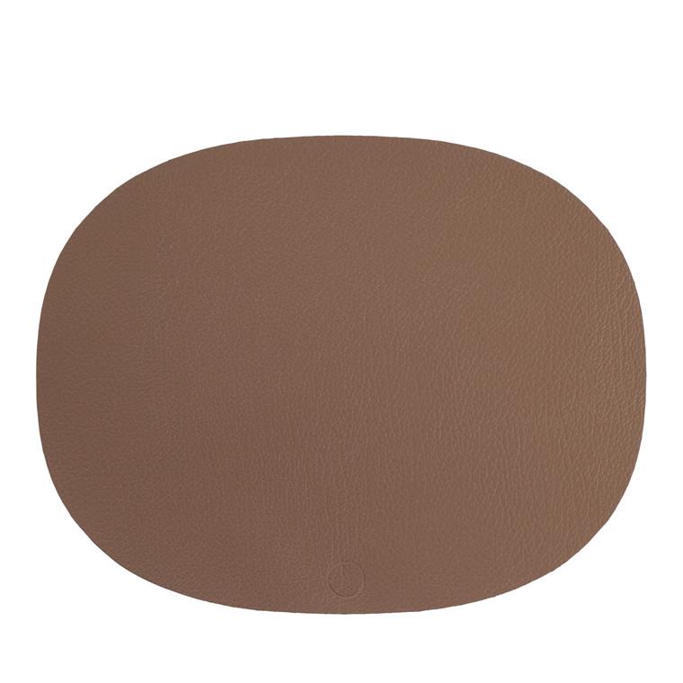 NOORT Oval dækkeserviet brun