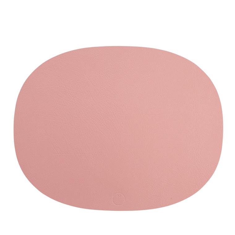 NOORT Oval dækkeserviet lys rød 42x33