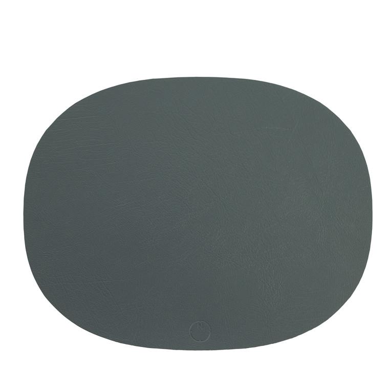 NOORT Oval dækkeserviet mørk grøn 42x33