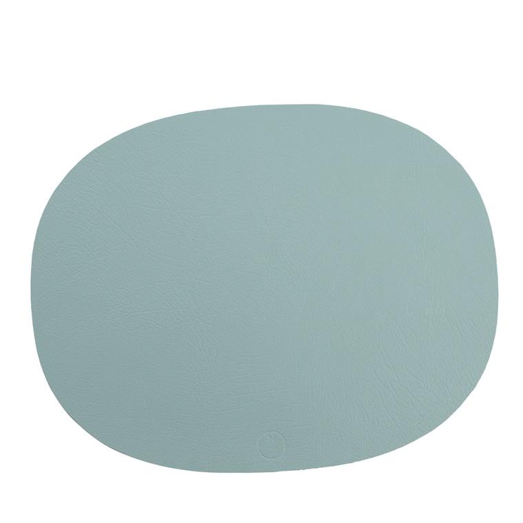 NOORT Oval dækkeserviet lys blå 42x33