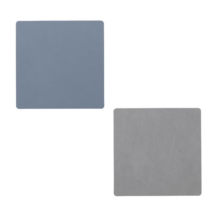 LIND DNA Double Nupo square glasbrik lys blå/lys grå