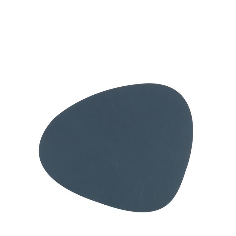 LIND DNA Nupo curve dækkeserviet lille mørk blå
