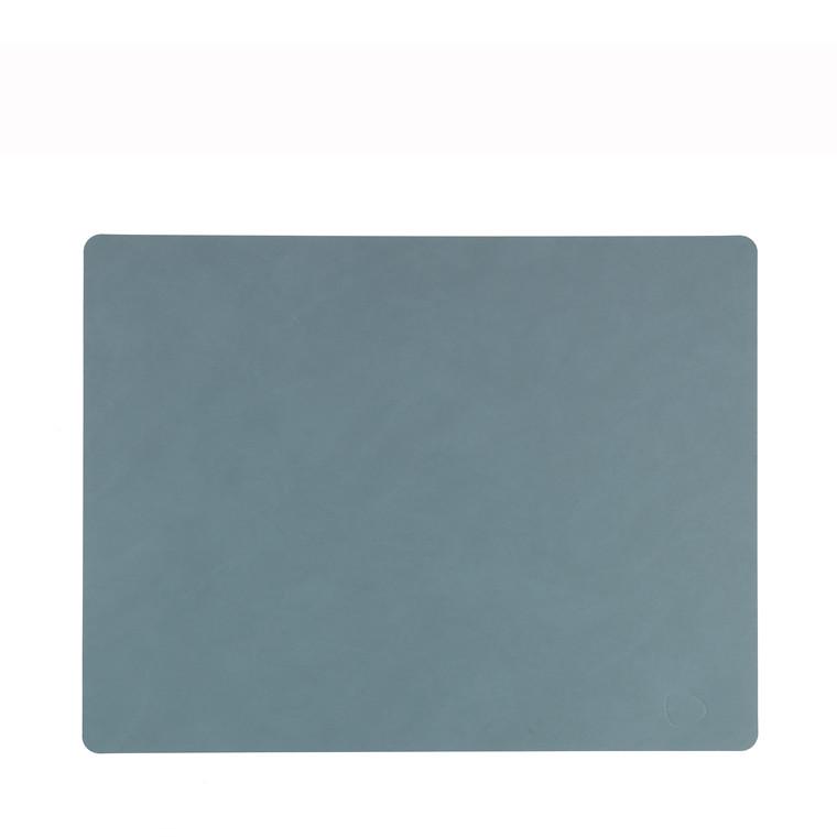 LIND DNA Nupo square dækkeserviet stor lys blå