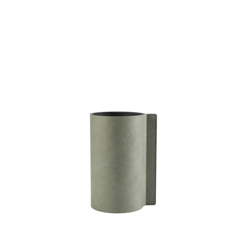 LIND DNA Hippo Block vase M olive green