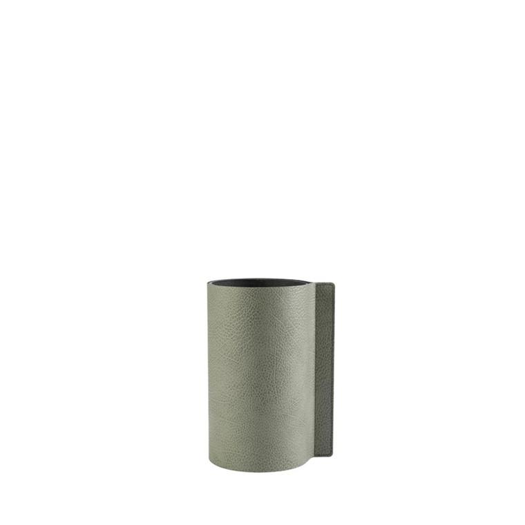 LIND DNA Hippo Block vase S olive green
